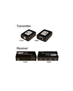 USB 2.0 OVER CAT5E/CAT6 EXTENDER BALUN 4-PORT HUB (ACTIVE)
