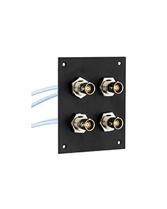 """4 JACK PANEL INSERT BULKHEAD REAR MOUNT TRB 3 LUG NON ISOLATED JACK WITH M17/176-00002 LEAD 12"""""""