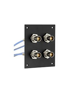 """4 JACK PANEL INSERT BULKHEAD REAR MOUNT TRB 3 LUG NON ISOLATED BEND RELIEF SPRING JACK WITH M17/176-00002 LEAD 12"""""""